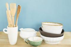Ceramische schotels royalty-vrije stock afbeeldingen