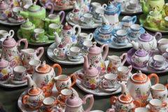 Ceramische theecontainer Stock Foto
