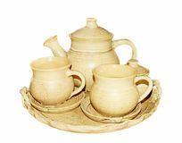 Ceramische theepot Stock Foto