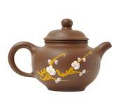 Ceramische theepot op wit Royalty-vrije Stock Foto