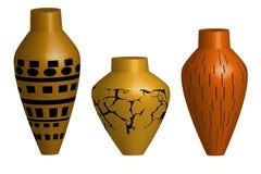 Ceramische vaasillustratie Royalty-vrije Stock Foto's