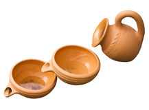 Ceramische waterkruik Royalty-vrije Stock Foto's