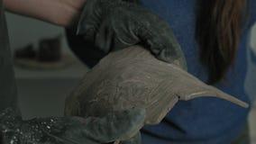 Work of ceramists in the workshop