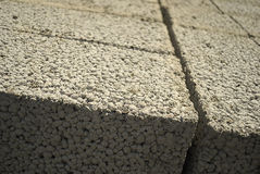 Ceramsite concrete blocks Stock Images