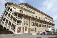 Cerbere,Occitanie,France. Old Hotel Belvedere du Rayon vert, Cerbere,France.Built between 1928 and 1932 by Leon Baille. Art-deco style and `paquebot` or Royalty Free Stock Images