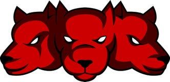 Cerberus głowy logo Obrazy Stock