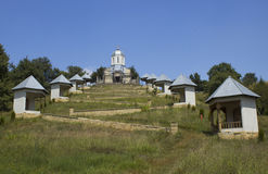 Cerbu kloster Arkivfoton