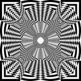 Cerca abstrata Rounded Simetrycal Perspective do alvo do Arabesque ilustração royalty free