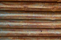 Cerca acanalada oxidada - imagen común Foto de archivo