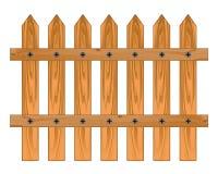 Cerca aguda de madera Foto de archivo libre de regalías