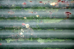 Cerca aherrumbrada vieja verde del metal Imagenes de archivo