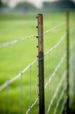 Cerca atada con alambre del metal Imagen de archivo
