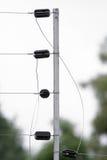 Cerca atada con alambre eléctrica 1 Fotos de archivo libres de regalías