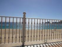 Cerca blanca en la playa de Cabo San Lucas Foto de archivo libre de regalías