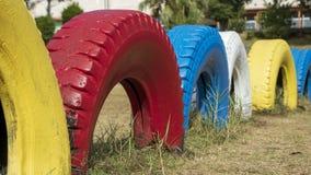 Cerca colorida do pneu imagens de stock royalty free