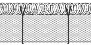 Cerca con alambre de púas libre illustration