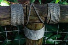 Cerca con la cuerda Fotografía de archivo libre de regalías