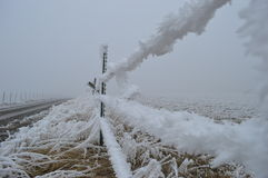Cerca congelada Foto de archivo libre de regalías
