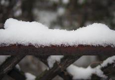 Cerca cubierta con nieve Imagenes de archivo