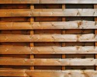 Cerca da madeira de Brown Fotografia de Stock Royalty Free