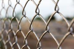 Cerca de aço da rede da corda Imagens de Stock