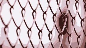 Cerca de alambre roja Fotografía de archivo