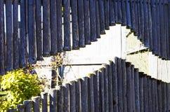 Cerca de bambú gris seca Imagen de archivo