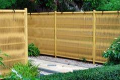 Cerca de bambú plástica Foto de archivo libre de regalías