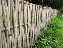 Cerca de bambú vieja Imagen de archivo libre de regalías