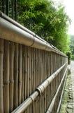Cerca de bambu na frente do jardim de bambu Imagens de Stock