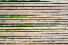 Cerca de bambu para o fundo textured imagens de stock