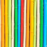 Cerca de bambu pintada bonita Fotografia de Stock
