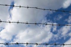 Cerca de Barbwire Imagen de archivo libre de regalías