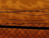 Cerca de Barbwire Imagen de archivo