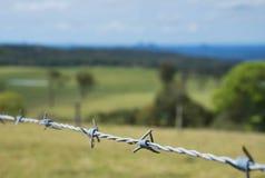 Cerca de Barbwire Imagem de Stock Royalty Free