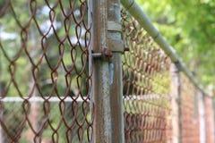 Cerca de Chainlink velha Foto de Stock Royalty Free