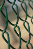 Cerca de Chainlink verde Fotografia de Stock Royalty Free