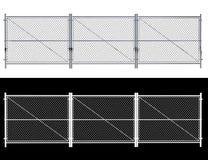 Cerca de fio do metal - isolou a cerca de fio de A isolada no branco 3D r Imagem de Stock