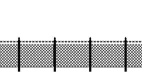 Cerca de límite con alambre de púas Protección de la frontera protecciones libre illustration