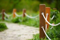Cerca de la cuerda del parque Imagen de archivo libre de regalías