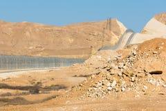 Cerca de la frontera de Israel Egypt en los desiertos de Negev y de Sinaí Imagen de archivo