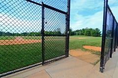 Cerca de la puerta del béisbol foto de archivo libre de regalías
