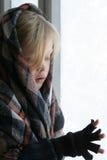 Cerca de la ventana helada Fotografía de archivo