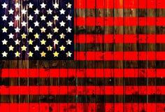 Cerca de madeira alemão unida Heart dos EUA, América, de matéria têxtil patriótica nacional do fundo do país do símbolo da bandei Foto de Stock
