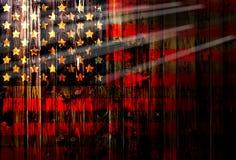 Cerca de madeira alemão unida Heart dos EUA, América, de matéria têxtil patriótica nacional do fundo do país do símbolo da bandei Fotos de Stock Royalty Free