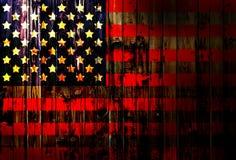 Cerca de madeira alemão unida Heart dos EUA, América, de matéria têxtil patriótica nacional do fundo do país do símbolo da bandei Fotografia de Stock Royalty Free