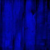 Cerca de madeira azul   Foto de Stock