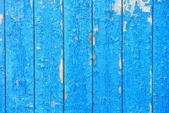 Cerca de madeira azul Fotos de Stock Royalty Free