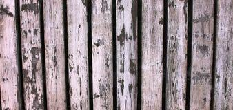 Cerca de madeira branca gasta e velha Imagens de Stock Royalty Free