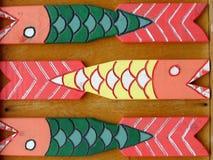 Cerca de madeira colorida Fotografia de Stock